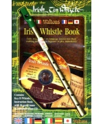 4921. Irish Tin Whistle Book (key of D) + CD pack (book/CD/whistle)