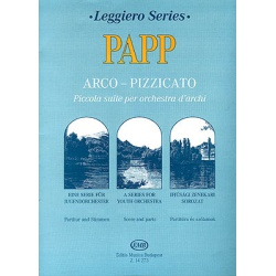 2464. L.Papp : Arco-Pizzicato for Youth Orchestra, Scores & Part